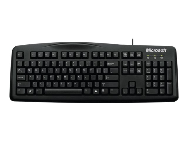 Microsoft Wired Keyboard 200 for Business, USB Port, English, North America, Black, 6JH-00001, 12639792, Keyboards & Keypads