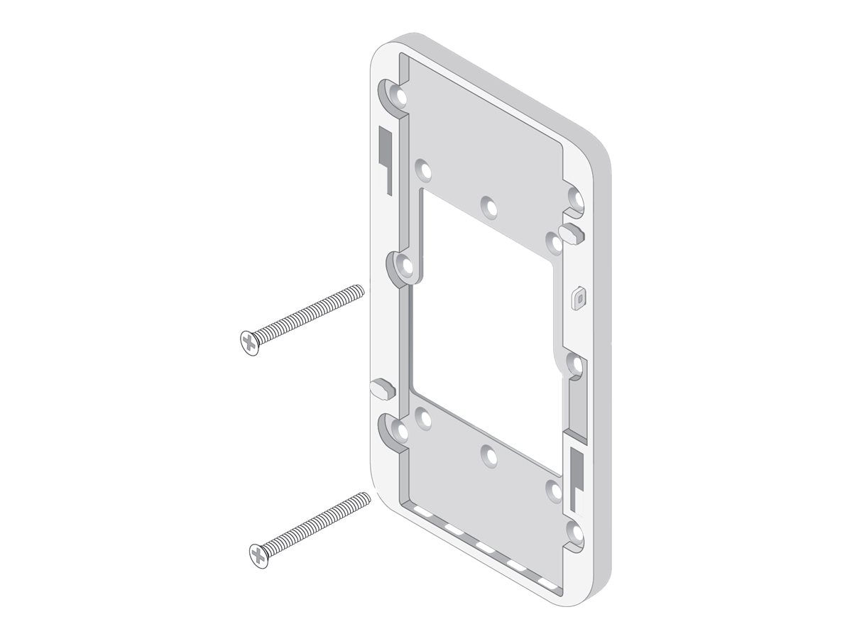 HPE Aruba Single Gang Wall-Box Mount Adapter for AP-205H, JW040A