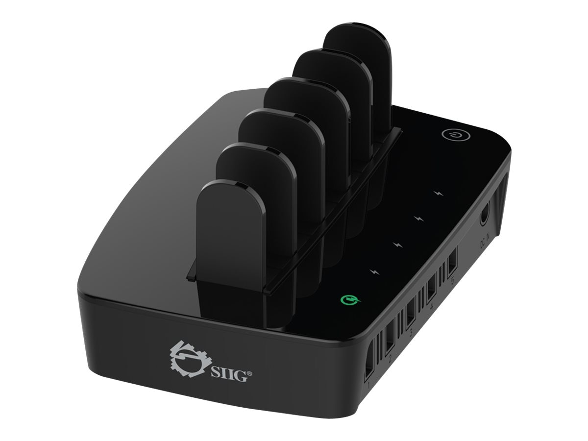 Siig 5-Port Smart USB Charging, AC-PW0X12-S1