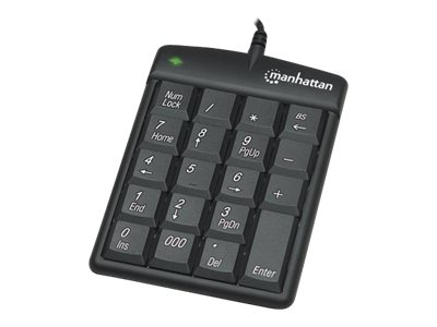 Manhattan 19-Key USB Numeric Keypad Win 2000 XP Vista 7,  Black