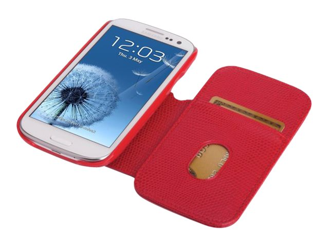 Kensington Portafolio Duo Wallet for Samsung Galaxy S III, Red Snake, K39613WW, 14989956, Carrying Cases - Phones/PDAs