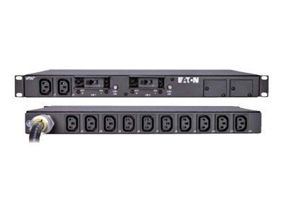 Eaton Basic ePDU 1U Rackmount 4.99kW 208V L6-30P 9ft Input Cord (12) C13 Outlets, PW105BA1U163, 9283895, Power Distribution Units