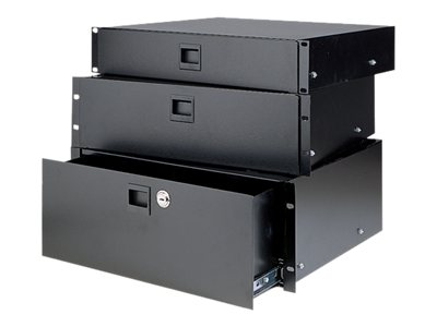Chief Manufacturing Heavy-Duty Rack Drawer, 2U, Black Anodized