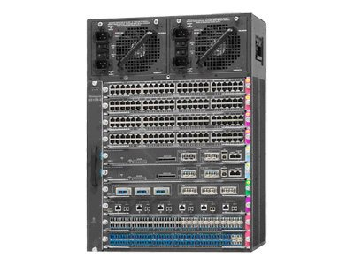 Cisco Catalyst 4500E 10-Slot Chassis for 48Gbps Slot No Power Supply, WS-C4510R+E=, 16735731, Network Switches