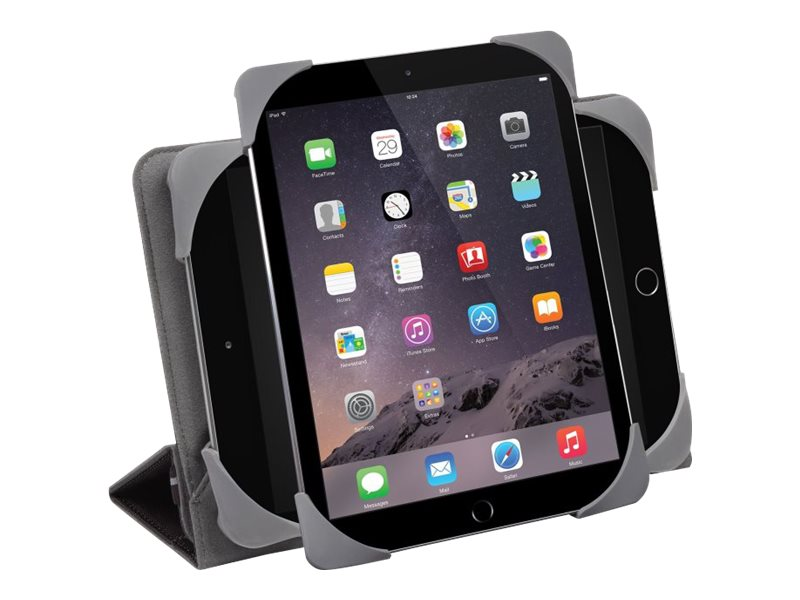 Targus Fit-N-Grip Universal 360 Case for 7-8 Tablets, Black, THZ590US, 18661801, Carrying Cases - Tablets & eReaders