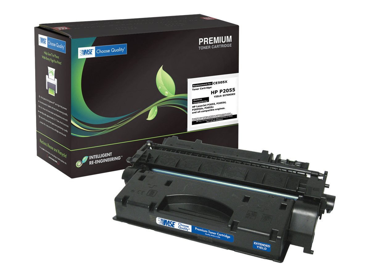 CE505X Black Extended Yield Toner Cartridge for HP, 02-21-05162