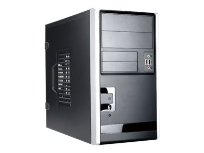In-win Chassis, EM013 Mini Tower mATX 3x3.5 Bays 2x5.25 Bays 4xPCIe, Black, EM013.TH350B3, 30589830, Cases - Systems/Servers