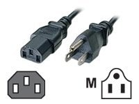 C2G Universal Power Cord IEC320 C13 to NEMA 5-15P 10ft, 03134, 130345, Power Cords