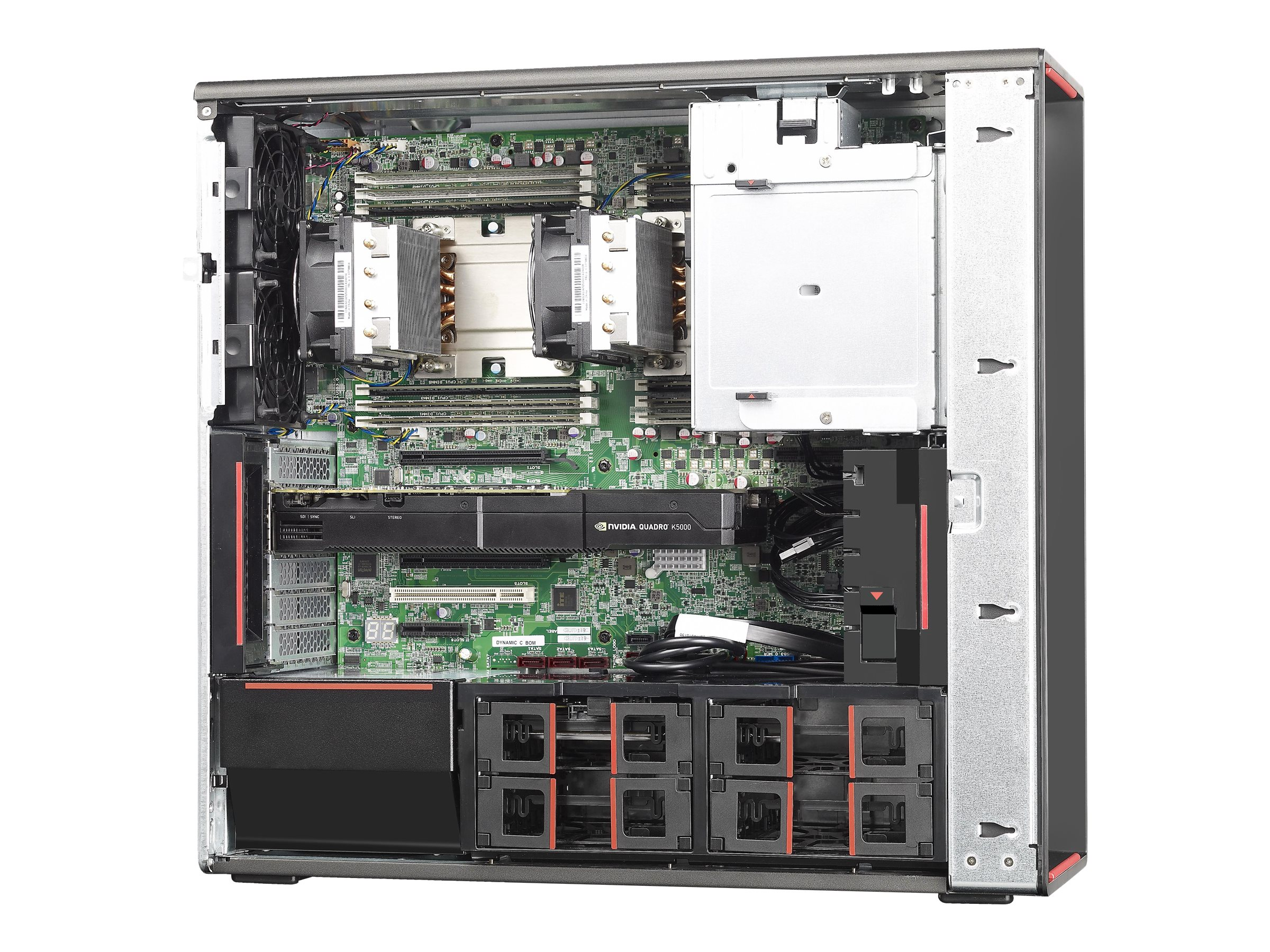 Lenovo TopSeller ThinkStation P710 Tower Xeon 12C E5-2650 v4 2.1GHz 16GB 256GB SSD 1TB M4000 DVD SM W10P64, 30B7001MUS