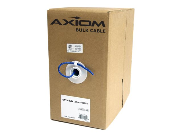 Axiom CAT6 23AWG Plenum Bulk Cable, Blue, 1000ft, C6BCS-B1000P-AX, 30859684, Cables