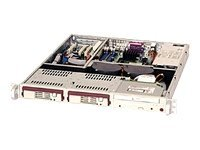 Supermicro Chassis, 1U, Rackmount, Dual Xeon, 2 SAS SATA HS Bays, No-CD FD, 410W Power Supply, Beige, CSE-811T-410, 6785831, Cases - Systems/Servers