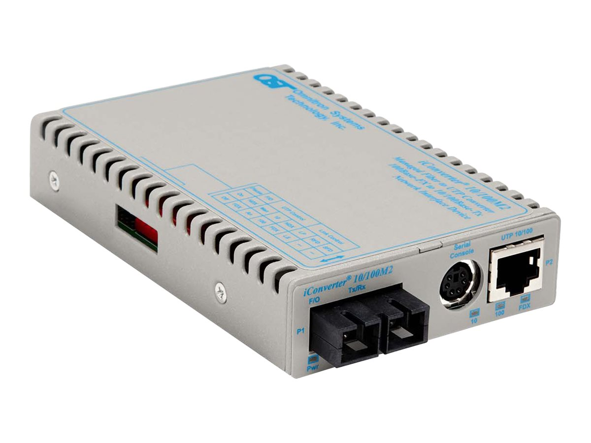 Omnitron iConverter10 100T-100FX SC SM SF Perp Single Fiber TX1.5 RX1.3 20KM  US AC Power, 8911N-1-A, 20215121, Network Transceivers