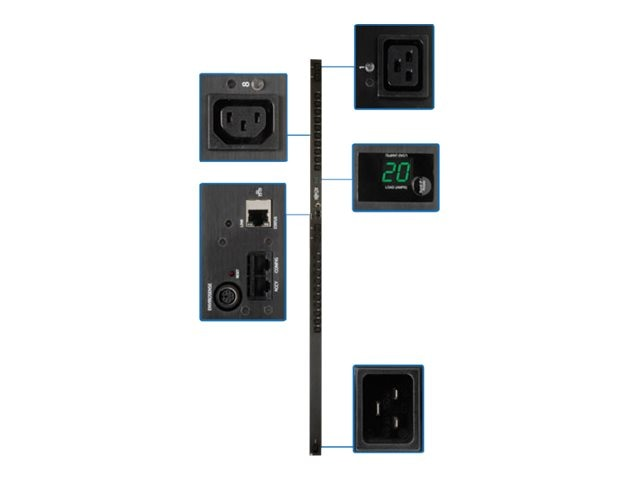 Tripp Lite PDU Switched 208V-240V 20A (20) C13 (4) C19 C20 Vertical 0U RM, PDUMV20HVNET, 8488274, Power Distribution Units