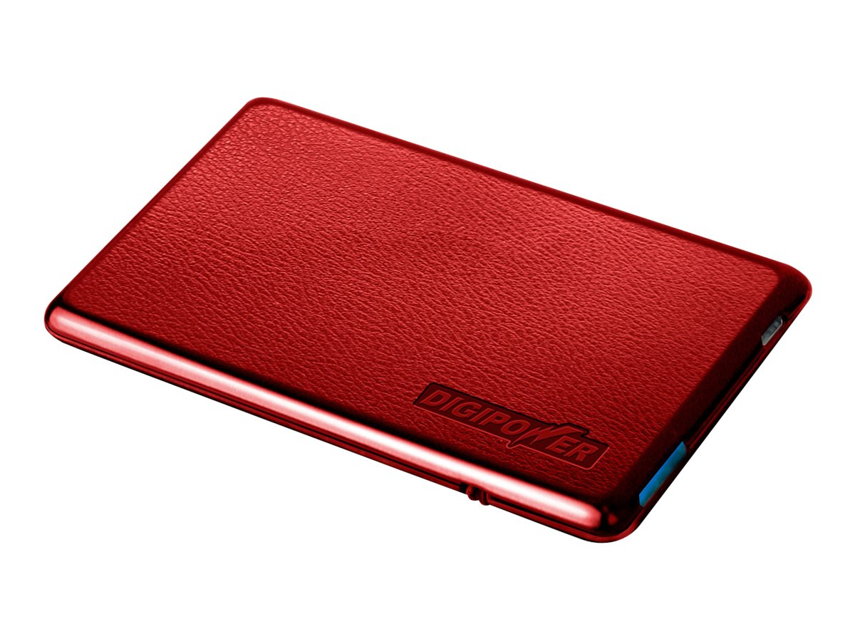 Mizco Charge Card for Smartphone, Red