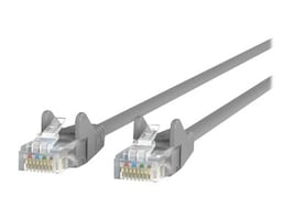 Belkin Cat5e Patch Cable, Gray, Snagless, 1ft, A3L791-01-S, 413042, Cables