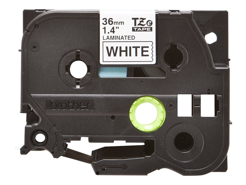 Brother 1.4 x 26.2' TZe261 Black on White Tape for P-Touch, TZE-261