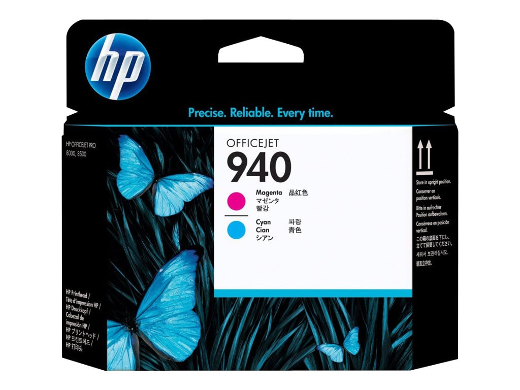 HP 940 Magenta Cyan Printhead for HP Officejet Pro 8500 All-in-One Printer Series, C4901A