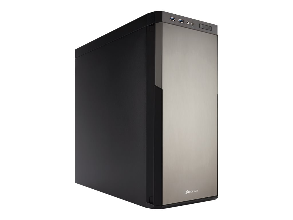 Corsair Chassis, Carbide Series 330R Titanium Edition Mid Tower E-ATX 4x3.5 Bays 3x5.25 Bays 7xSlots, CC-9011071-WW
