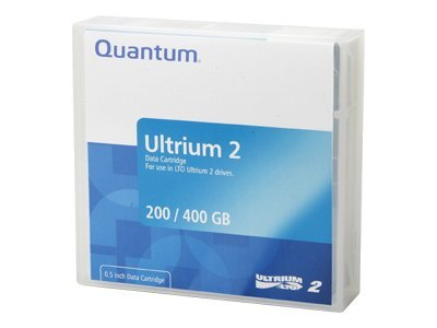 Quantum 200 400GB 609m LTO-2 Ultrium Tape Cartridge, MR-L2MQN-01, 5401372, Tape Drive Cartridges & Accessories