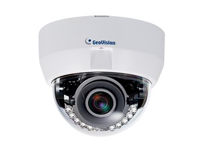 Geovision 3MP Super Low Lux WDR Pro P-Iris Fixed Dome Camera with 3-9mm Lens