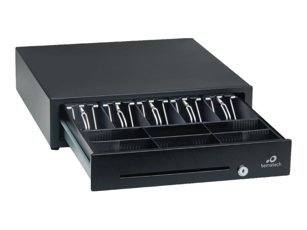 Logic Controls Cash Drawer 16x16x4 RJ Connector Epson, Black