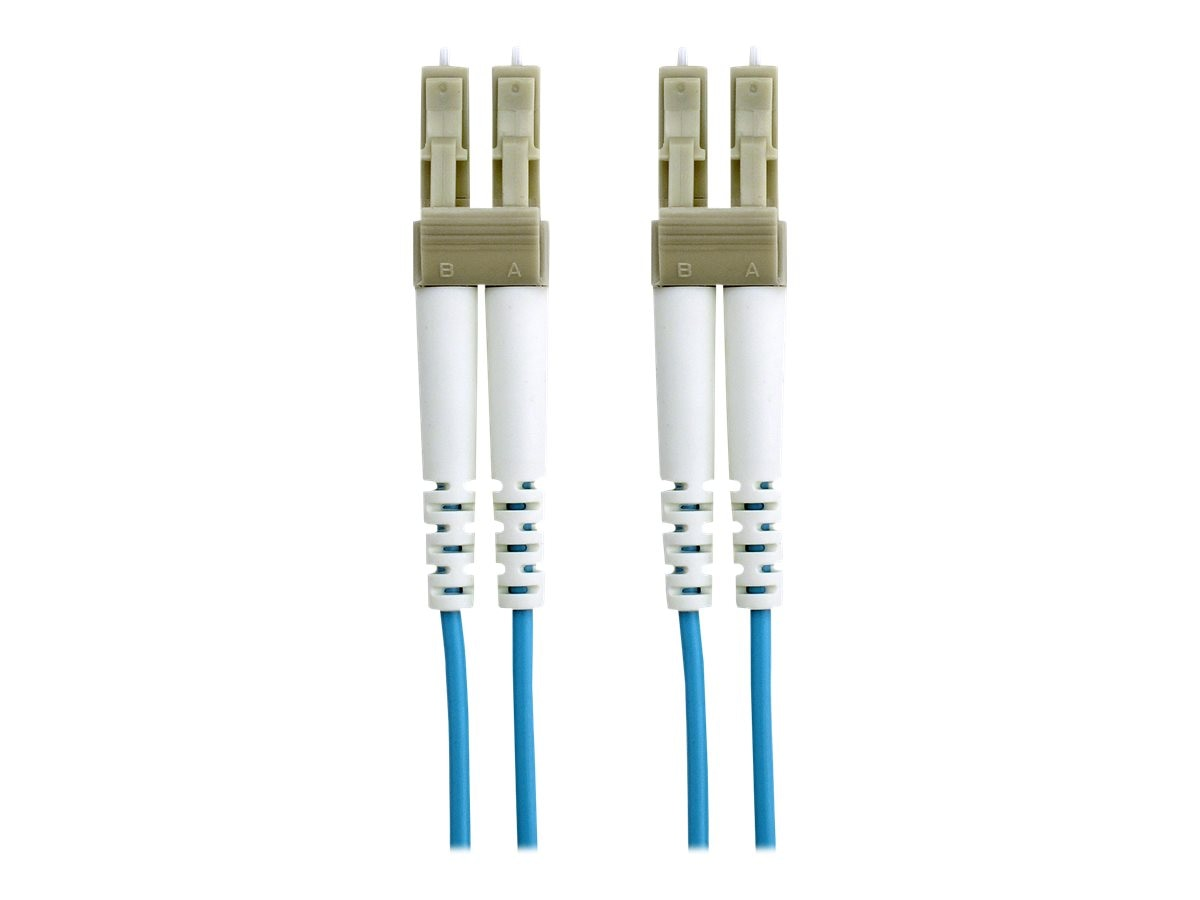 Belkin 10GB Fiber Patch Cable, LC-LC, 50 125, Multimode, Aqua, 3m