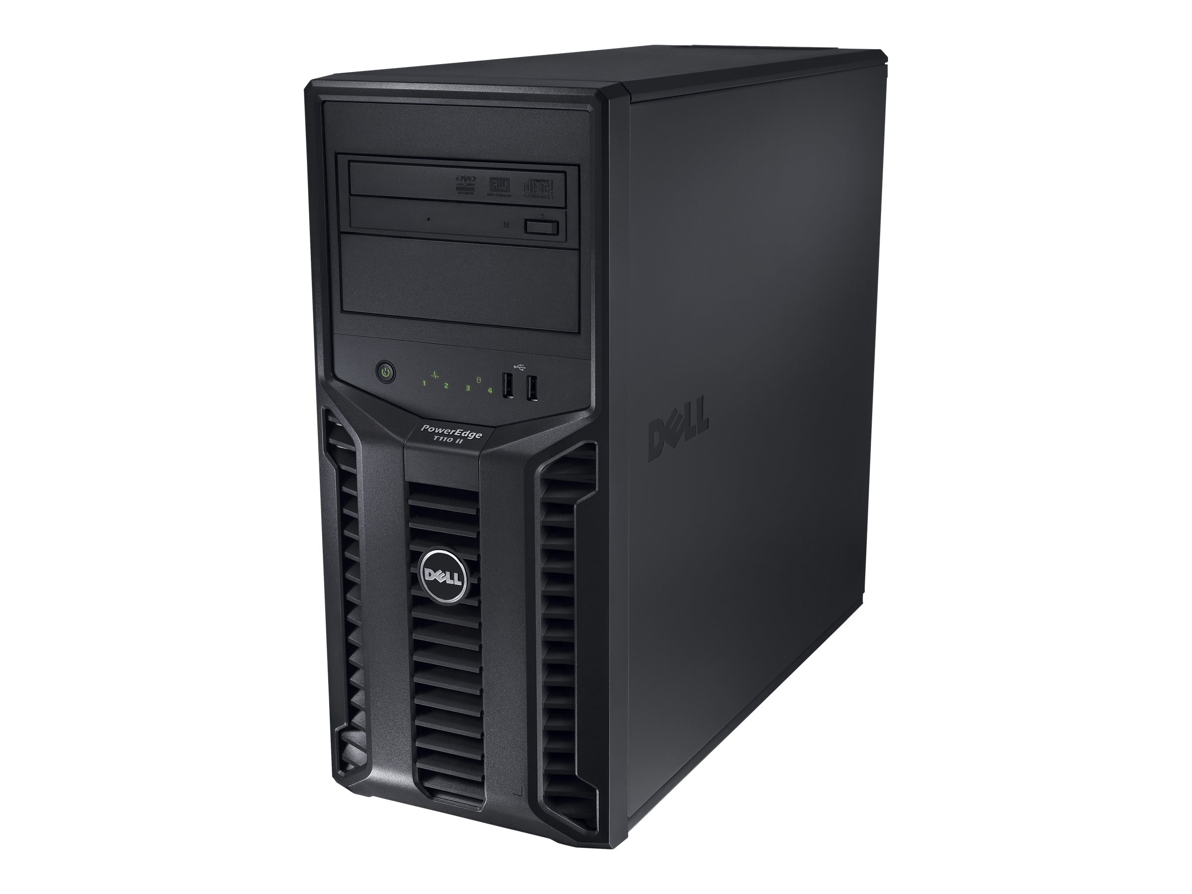 Dell PowerEdge T110 II Tower Core i3-3240 3.4GHz 4GB 4x3.5 DC Bays DVD GbE 305W, 463-7046, 26687541, Servers