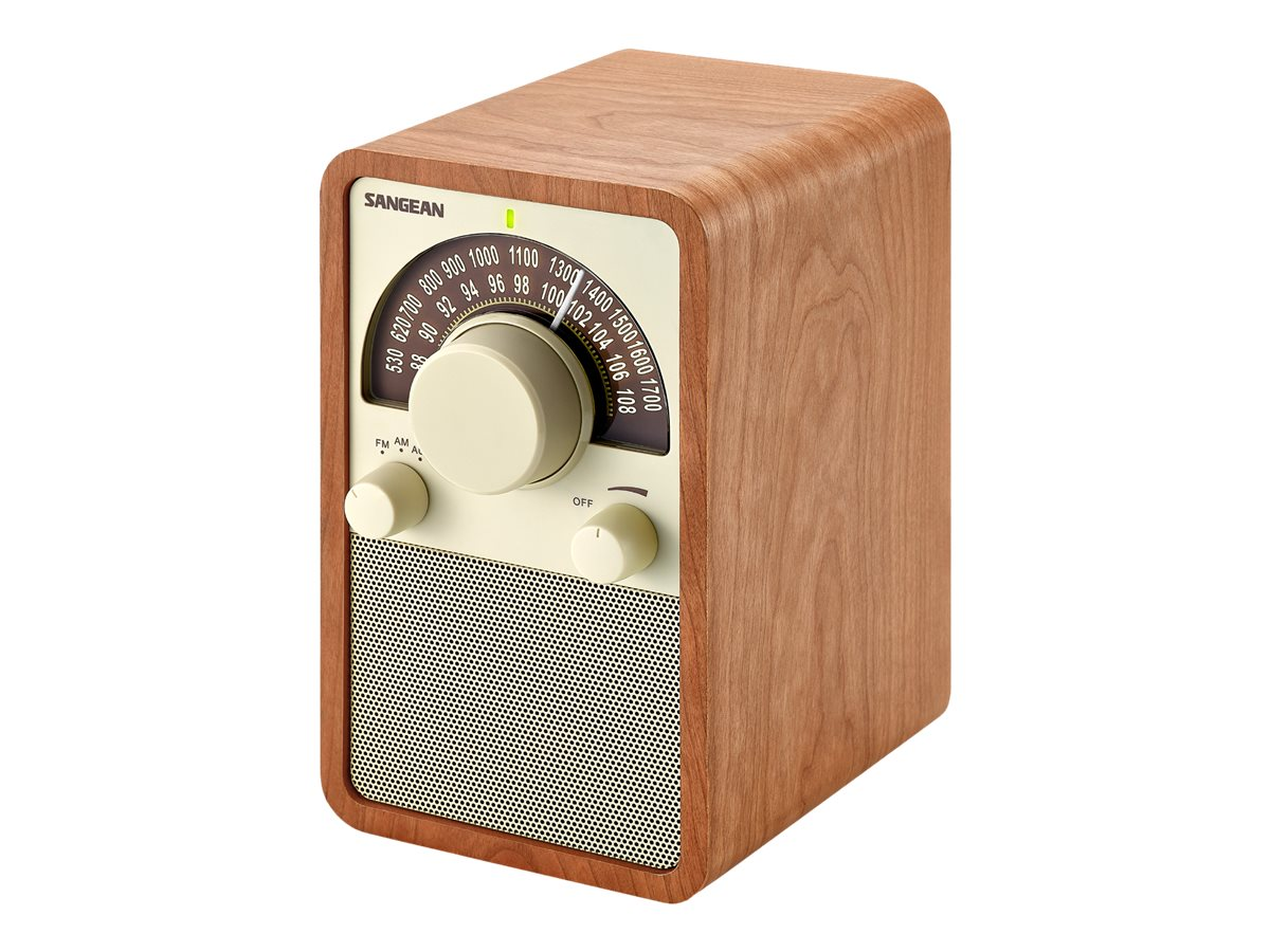 Sangean AM FM Wooden Radio - Walnut