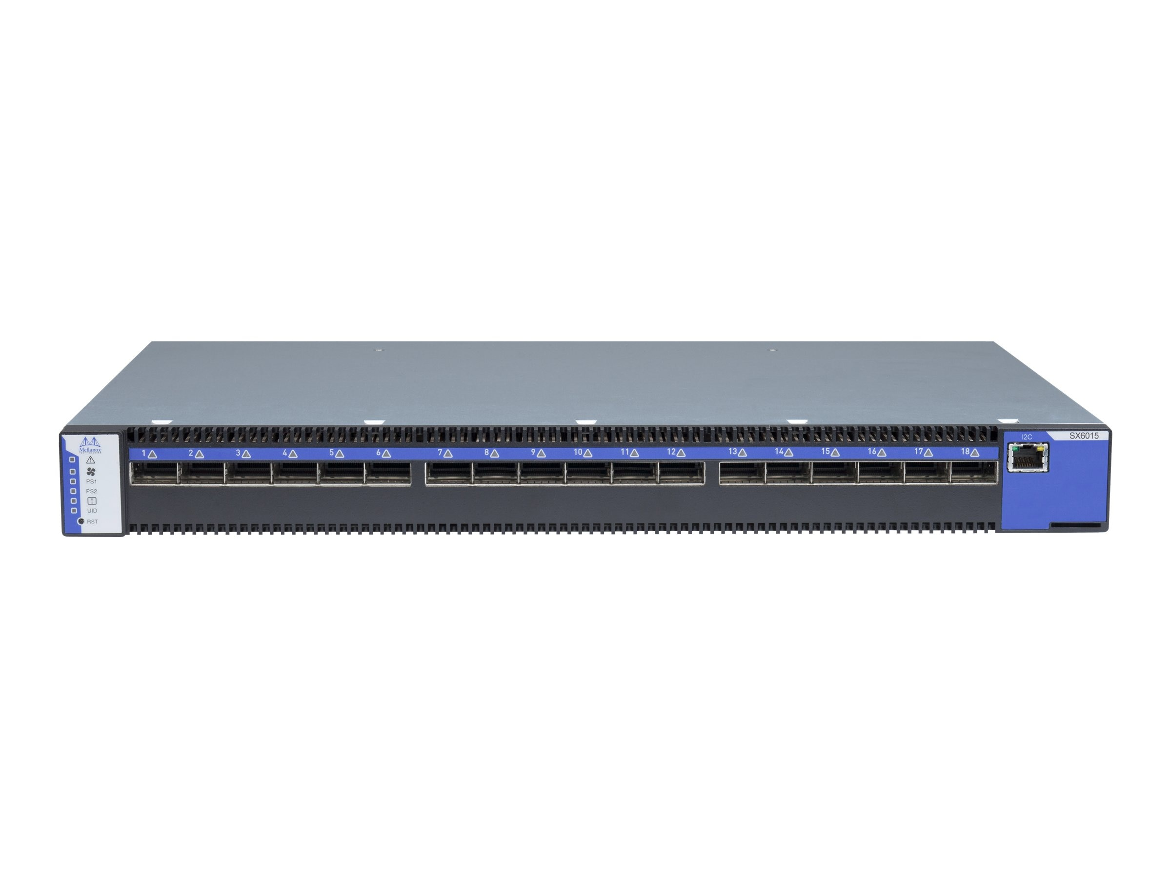 Mellanox SwitchX-2 Based 18-Port QSFP For10 1U Infiniband Switch, MSX6015T-1BRS