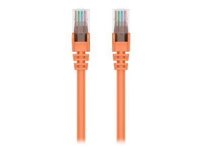 Belkin Cat5e Snagless Patch Cable, Orange, 7ft, A3L791-07-ORG-S