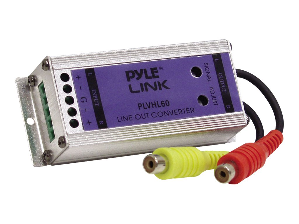 Pyle 2 Channel Speaker to RCA Converter, PLVHL60, 31199155, Stereo Components
