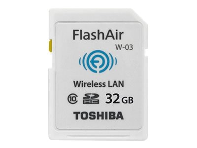 Toshiba 32GB FlashAir III Wireless SDHC Card, Class 10, PFW032U-1CCW, 27415644, Memory - Flash