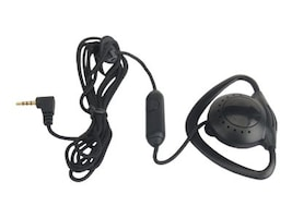 Zcover 2.5mm Push-To-Talk Ear-Mic for Cisco Wireless IP Phone - Black, ZUPT2QCK, 16603148, Phone Accessories