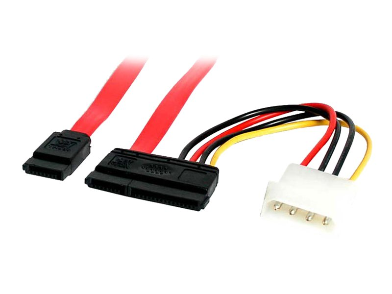 StarTech.com SATA Data and Power Combo Cable, 6in, SATA6POW, 12645421, Cables