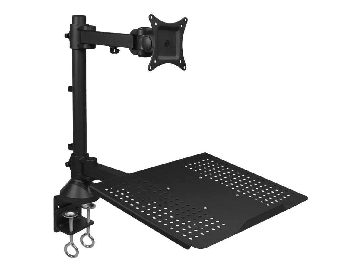 Siig Full Motion Articulating Monitor and Laptop Desk Mount, Black