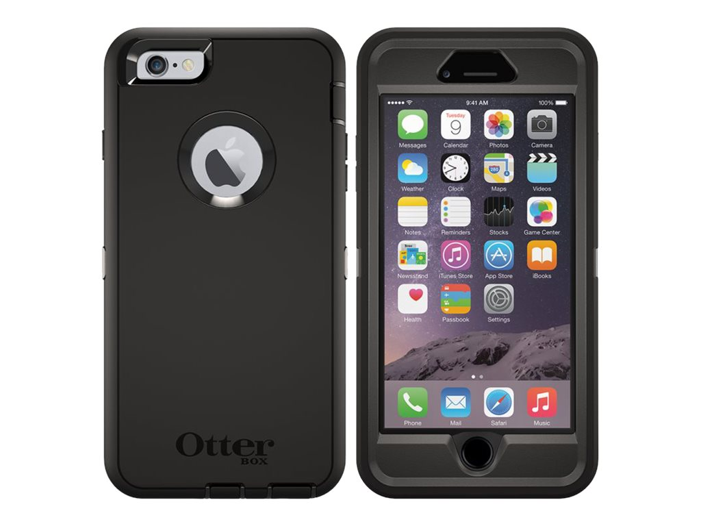 OtterBox Defender for iPhone 6 Plus, B2B Pro Pack, Black, 77-52014, 26839040, Carrying Cases - Phones/PDAs