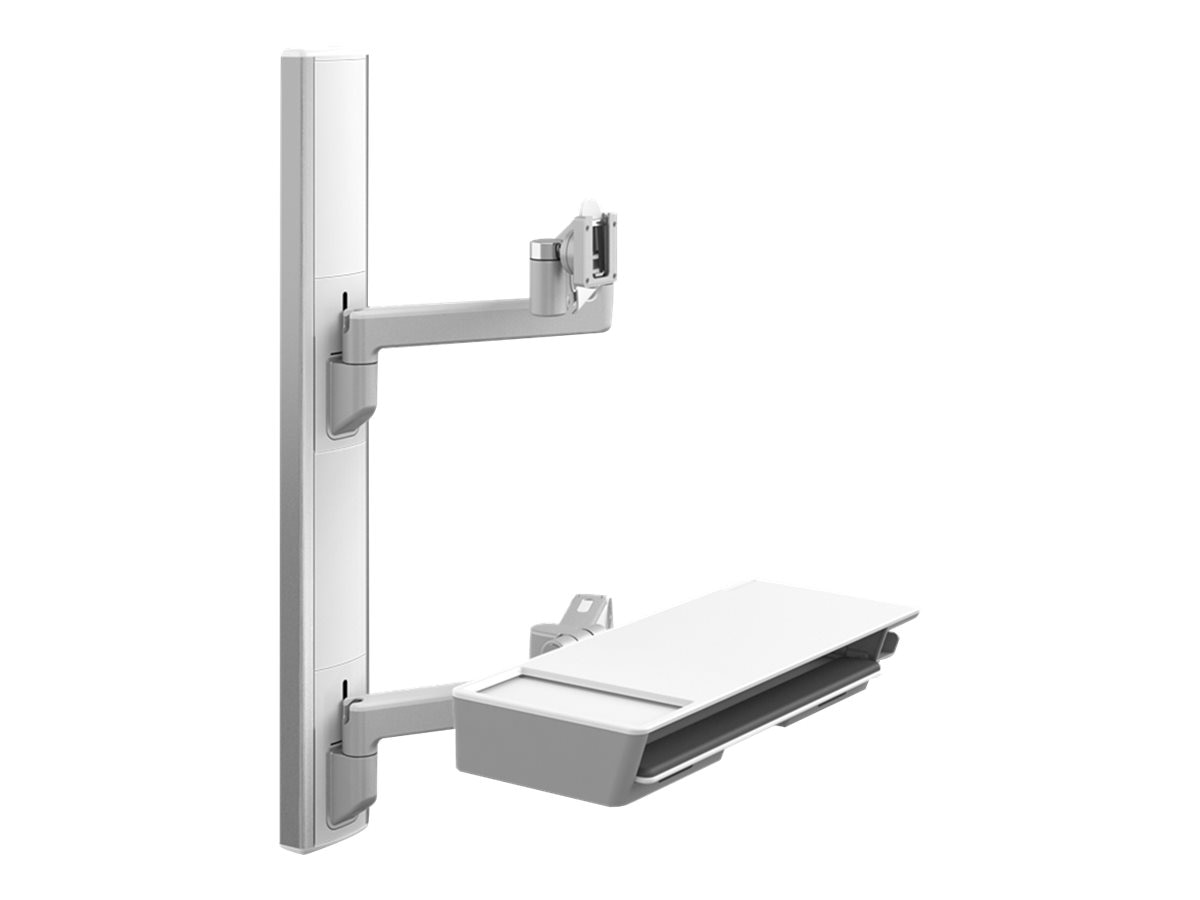 Humanscale V6 Wall Station, 37 Track, (2) 12 Straight Link 12 Dynamic Link Arms