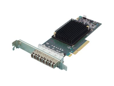 Atto Quad-Channel 16Gb s Gen 6 Fibre Channel PCIe 3.0 Host Bus Adapter