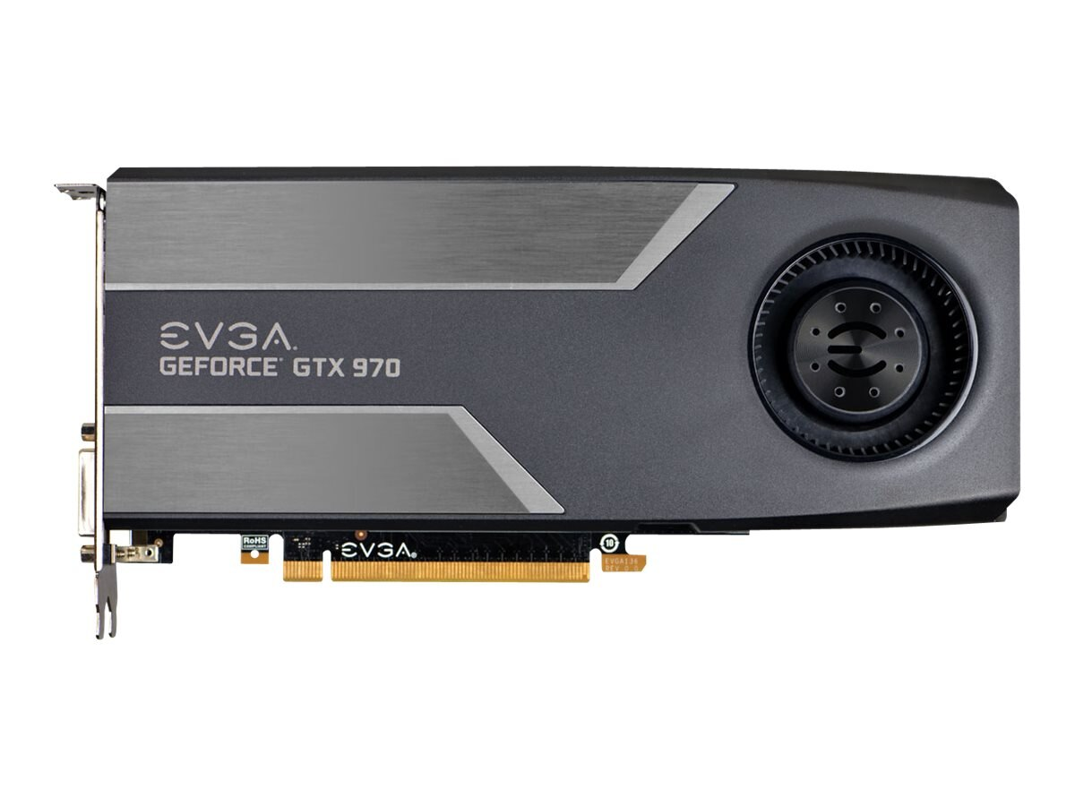 eVGA GeForce GTX 970 PCIe 3.0 x16 Superclocked Graphics Card, 4GB GDDR5, 04G-P4-1972-KR, 17827143, Graphics/Video Accelerators