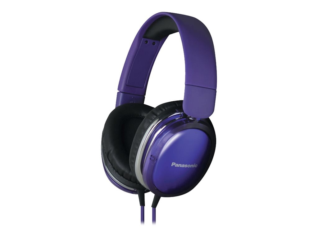 Panasonic StreetBand Monitor Headset w  Remote & Mic for Apple - Purple, RP-HX450C-V, 21016853, Headsets (w/ microphone)