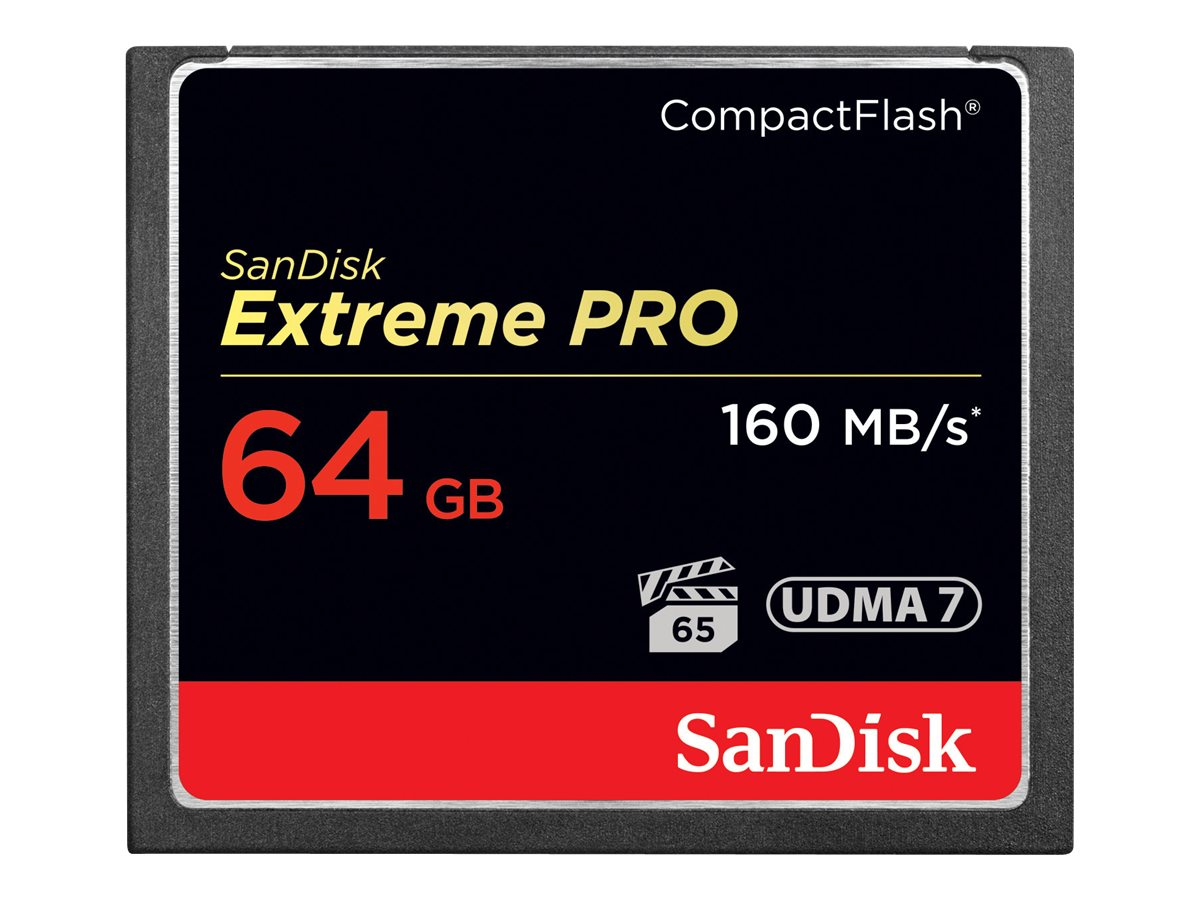 SanDisk 64GB CompactFlash Extreme Pro Memory Card, SDCFXPS-064G-A46