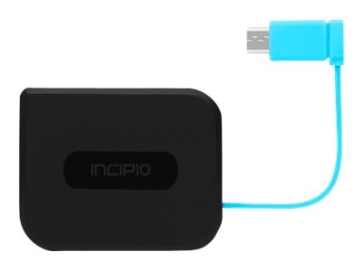 Incipio GHOST Wireless Adapter Dual Mode Charger w  Micro-USB Cable, Black, PW-214-BLK