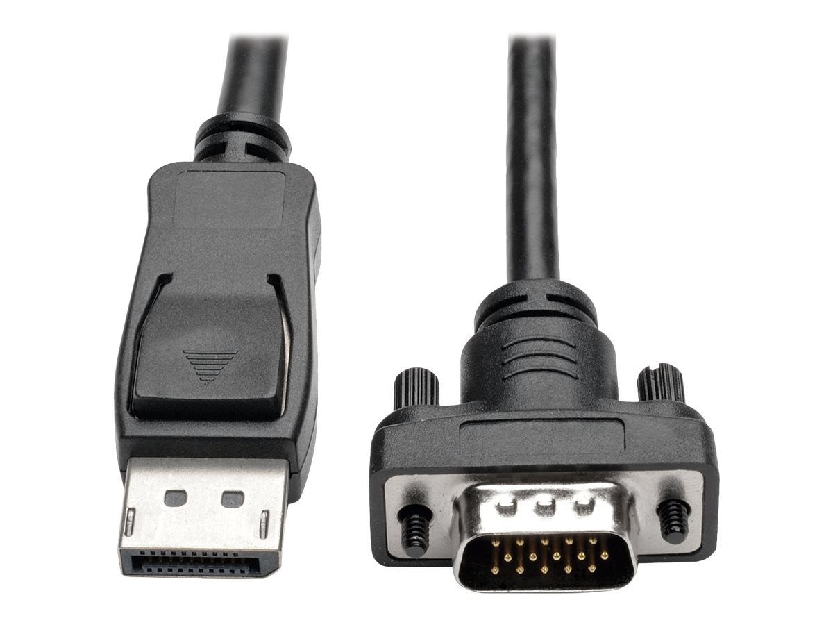 Tripp Lite DisplayPort 1.2 to VGA Active Adapter Cable with Latches, Black, 10ft, P581-010-VGA-V2