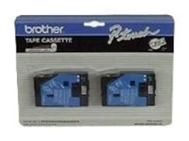 Brother .5 TC-20 Black-On-White Label Tapes (2-pack), TC20, 49606, Paper, Labels & Other Print Media