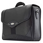 Mobile Edge 17 Premium Briefcase, Charcoal Black, 1680D Ballistic Nylon, MEB17P, 6101427, Carrying Cases - Notebook