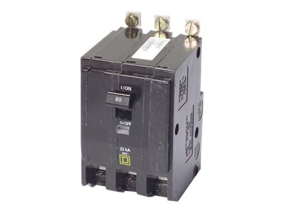 APC PDU 3-Pole 80 Amp Bolt-On Square D Breaker, PD3P80ABBSD, 8474577, Power Distribution Units