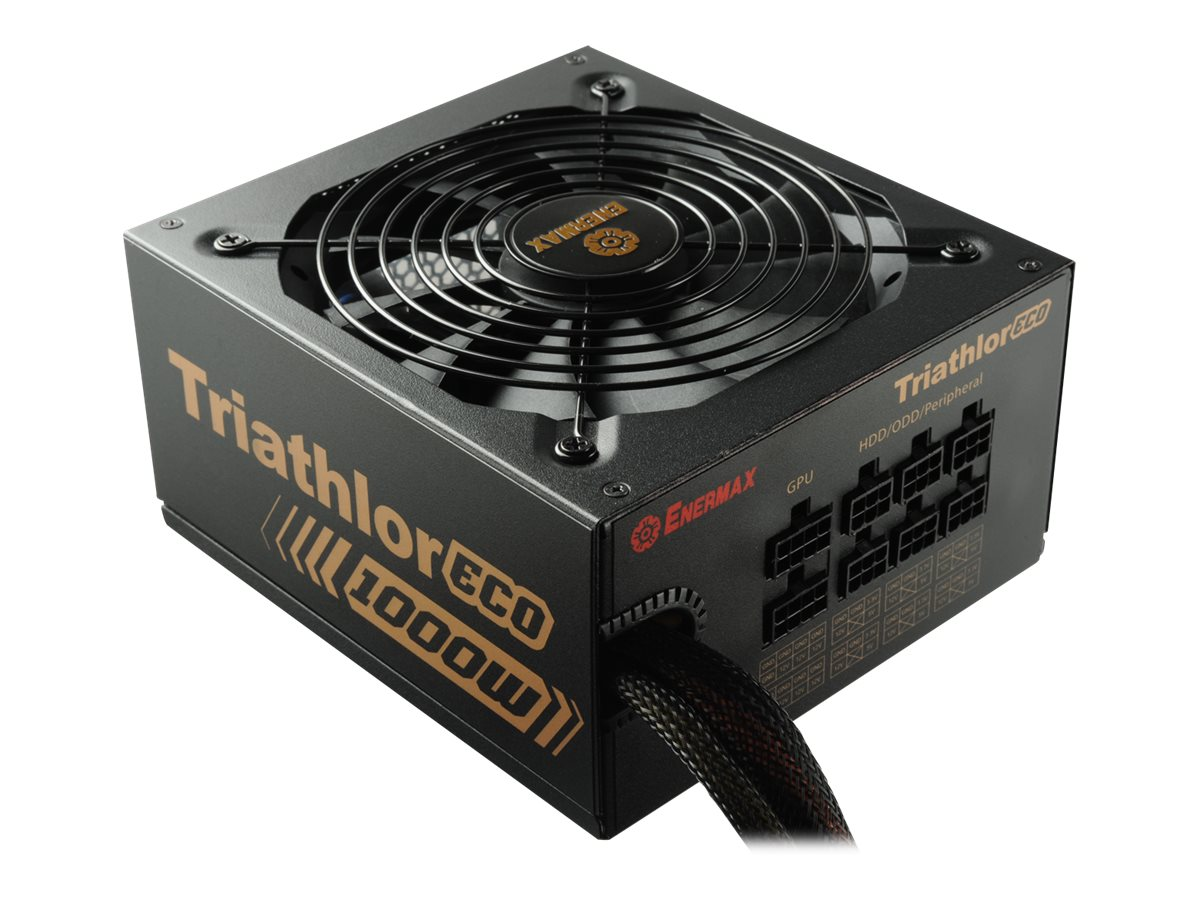 Enermax Triathlor ECO Power Supply 1000W 80-Plus Bronze Certified Single +12V Rail SLI CrossFire Support