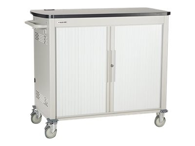 Black Box Double Frame Universal Computing Cart, 18 Large Device Configuration, Tambour Door, UCCDL18T, 16004436, Computer Carts