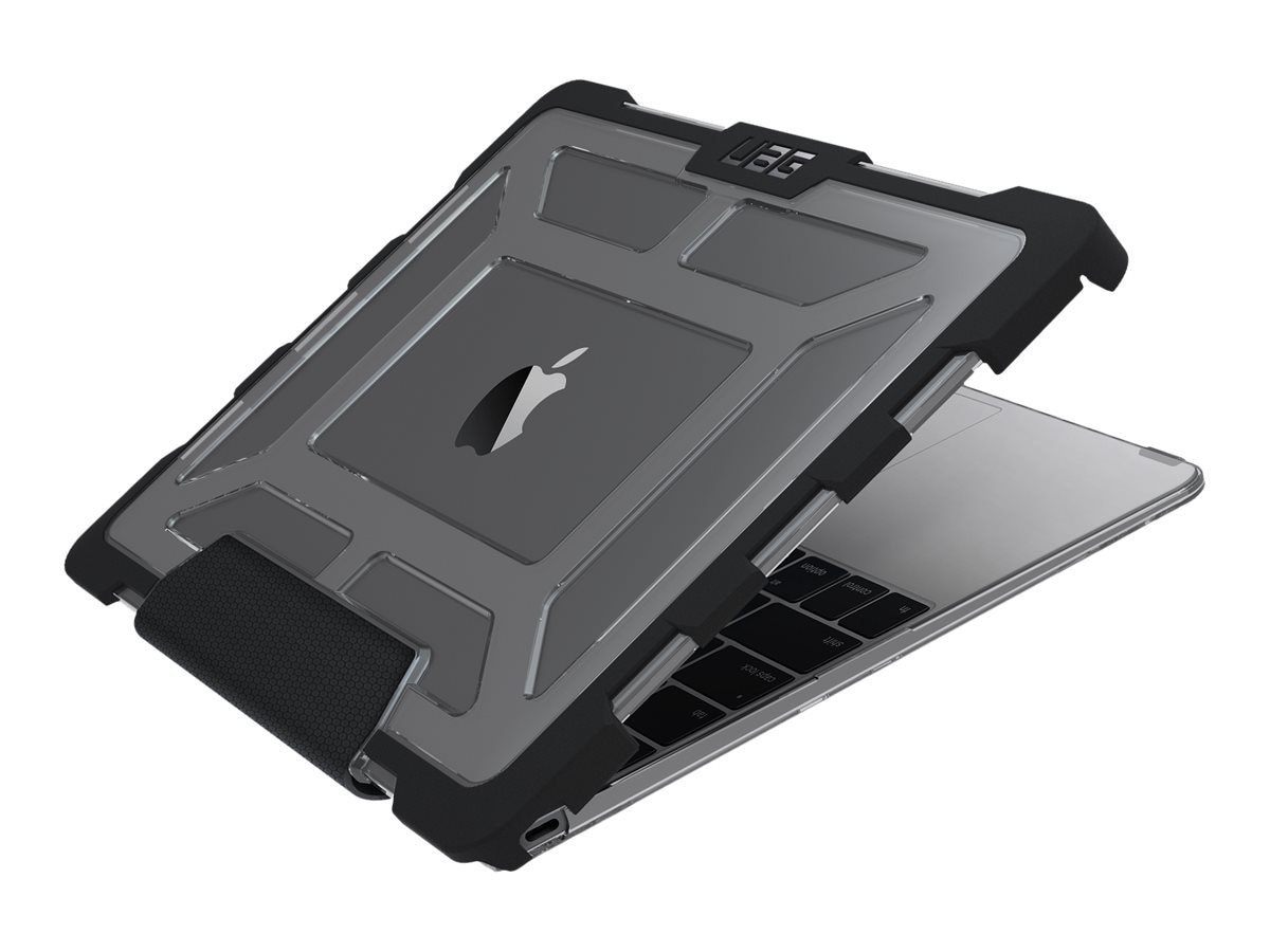 Urban Armor 12 Macbook Ash Black Case, UAG-MB12-A1534-ASH, 30732392, Carrying Cases - Notebook