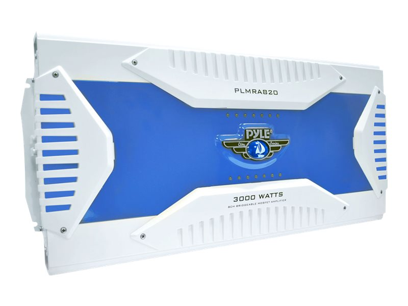 Pyle 3000W 8-Channel Waterproof Bridgeable Mosfet Marine Amplifier, PLMRA820, 17436231, Stereo Components